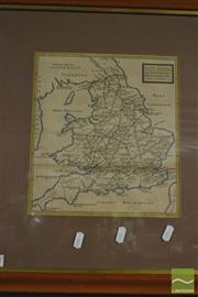 Sale 8214 - Lot 2057 - Framed Map of Southern England