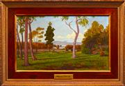 Sale 8309 - Lot 574 - Joseph Gaut (1860 - 1934) - Afternoon in Iron Cove, 1902 59 x 100cm