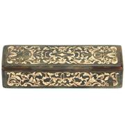 Sale 8390A - Lot 61 - Tortoiseshell Box with Gold Painted Inlay