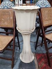 Sale 8676 - Lot 1030 - Dolton Jardiniere on Stand