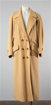Sale 8740F - Lot 83 - A Cojana, England pure camel hair double breasted coat, UK 12