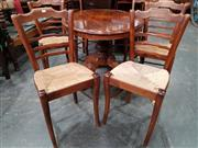 Sale 8724 - Lot 1023 - Set of 6 Ladder Back Dining Chairs with Rush Seats