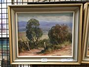 Sale 8776 - Lot 2022 - John Emmett - Farm Track, near Lowther, Kanmbla Valley, oil on board, frame size: 26 x 31cm, signed lower left