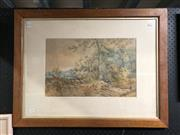 Sale 8841 - Lot 2089 - Artist Unknown - Country Scene, 1886, watercolour, frame size - 62 x 80cm, signed lower left