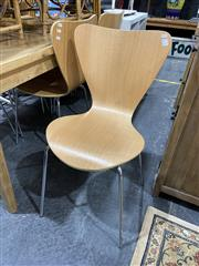 Sale 8876 - Lot 1033 - Set of Six Fritz Hansen Style Ant Chairs