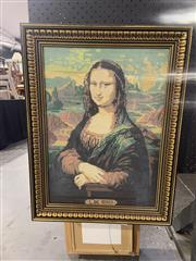 Sale 8981 - Lot 2064 - A framed textile of the Mona Lisa