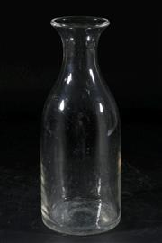 Sale 9007 - Lot 47 - 19th Century Bottle Shaped Glass Wine Carafe (H25.5cm)