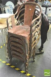 Sale 8302 - Lot 1024 - 6 Rustic Metal Chairs