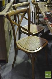 Sale 8361 - Lot 1068 - Set of 6 Natural Cross Back Dining Chairs