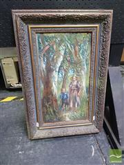 Sale 8548 - Lot 2031 - Artist Unknown (early C20th) - Walking Through the Bush 43 x 23.5cm