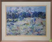 Sale 8604 - Lot 2030 - Norma Gibson - Landscape mixed media on paper, 52.5 x 72cm, signed lower right