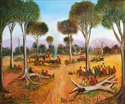 Sale 8695A - Lot 5051 - Kevin Charles (Pro) Hart (1928 - 2006) - Miners Picnic, 2000 74 x 89cm