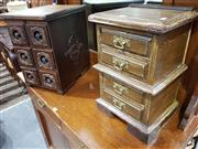 Sale 8740 - Lot 1126 - Timber Chest of Six Sewing Drawers & Another Example (2)