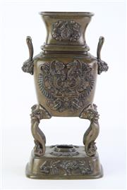 Sale 8815C - Lot 9 - A Bronze Chinese Censer H 25cm