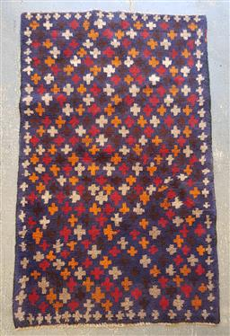 Sale 9102 - Lot 1157 - Pure wool hand knotted Persian Baluchi (134 x 84cm)