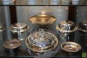 Sale 8217 - Lot 135 - Silver Plated Hardy Bros Dish with Others incl Dome