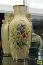 Sale 8217 - Lot 36 - Grainger Floral Painted Vase