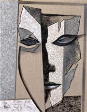 Sale 8257A - Lot 100 - Greg Frawley (1947- ) - Studio Mask II 46 x 35.5cm