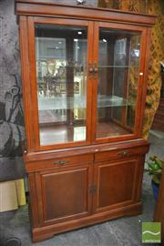 Sale 8338 - Lot 1352 - Display Cabinet with Glass Doors & Shelves above Cabinet Base