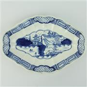 Sale 8399 - Lot 9 - Caughley Late 18th Century Blue & White Chinoiserie Dish