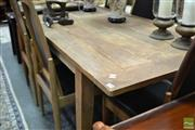 Sale 8418 - Lot 1029 - Rustic Recycled Elm Dining Table (H 77 x L 220 x W 89cm)