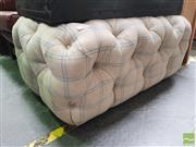 Sale 8455 - Lot 1066 - Cream Buttoned Two Seater Ottoman