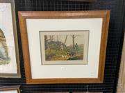 Sale 9077 - Lot 2042 - H Alken, Pheasant Shooting, handcoloured lithograph, frame: 56 x 62 cm, Published by I. Clarke