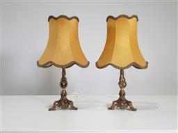 Sale 9255 - Lot 1304 - Pair of brass table lamps (h57cm)