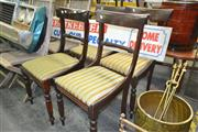 Sale 8175 - Lot 1096 - Set Of Four Cedar Dining Chairs On Fluted Legs