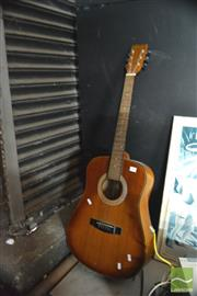 Sale 8407T - Lot 2456 - Status Acoustic Guitar (one string missing)