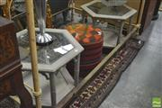 Sale 8418 - Lot 1089 - Pair of Hexagonal Side Tables