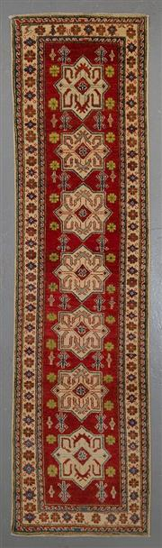 Sale 8545C - Lot 41 - Afghan Kazak Runner 302cm x 78cm