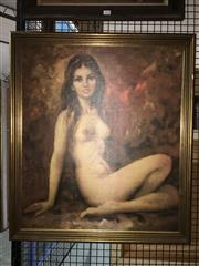 Sale 8751 - Lot 2097 - Seitenakt - Female Nude, 58.5 x 68cm -