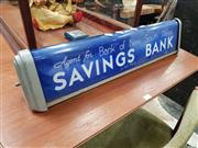 Sale 8741 - Lot 1081 - Agent for Bank of New South Wales Light Up Sign