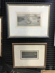 Sale 8990 - Lot 2023 - Pair of Antique hand-coloured wood engravings of Port Jackson and Shark Bay