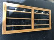 Sale 9043 - Lot 1063 - Wall Mount Display Cabinet with Glass Doors (H:48 W:102 D:7cm)