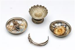 Sale 9098 - Lot 451 - Turkish silver pin dishes together with other silver wares