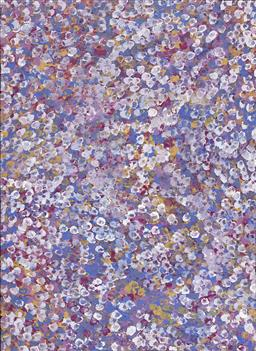 Sale 9187JM - Lot 5042 - BESSIE PITJARA (c1960 - ) Bush Plum acrylic on canvas 96 x 70 cm (stretched and ready to hang) signed verso; certificate of authenti...