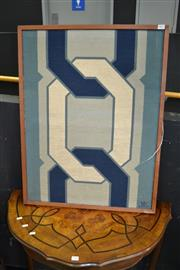 Sale 8117 - Lot 905 - Framed French Tapestry of Chain Link