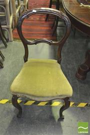 Sale 8352 - Lot 1090 - Set Of Four Various chairs Incl 2 Balloon Backs, A George III Armchair And A Rattan Example