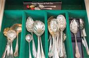 Sale 8369A - Lot 59 - A quantity of mainly salad serving spoons mainly with embossed fruit decoration