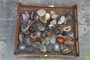Sale 8406 - Lot 1019 - Crate Assorted Polished Agate Slices