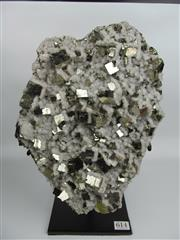 Sale 8431A - Lot 614 - Pyrite and Quartz on Stand, Peru
