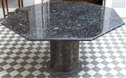 Sale 8470H - Lot 6 - An unusual paleontological Italian fossil marble centre or dining table with octagonal top and pedestal with many fossil inclusions,...