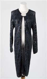 Sale 8541A - Lot 4 - A Megan Park long sequinned navy cardigan, size 1