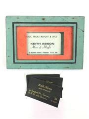 Sale 8539M - Lot 244 - Keith Abson Man of Magic, Magic Tricks Bought & Sold, vintage framed calling card with others