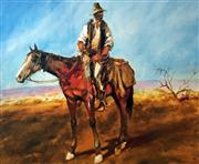 Sale 8859A - Lot 5048 - Hugh Sawrey (1919 - 1999) - Sid Kidman Cattle King 45 x 54cm (sheet)