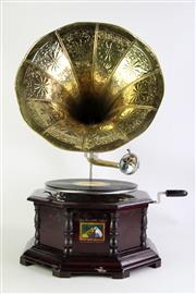 Sale 8860 - Lot 26 - Vintage His Masters Voice Gramophone
