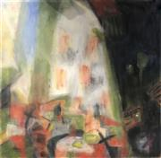 Sale 9033 - Lot 2094 - Kate Dulhunty Interior Still Life acrylic on canvas, 70.5 x 70.5 cm, signed verso