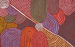 Sale 9221JM - Lot 5066 - SHARON PORTER NAPANGARDI My Country acrylic on canvas 157 x 98 cm (stretched and ready to hang) signed verso; certificate of authent...